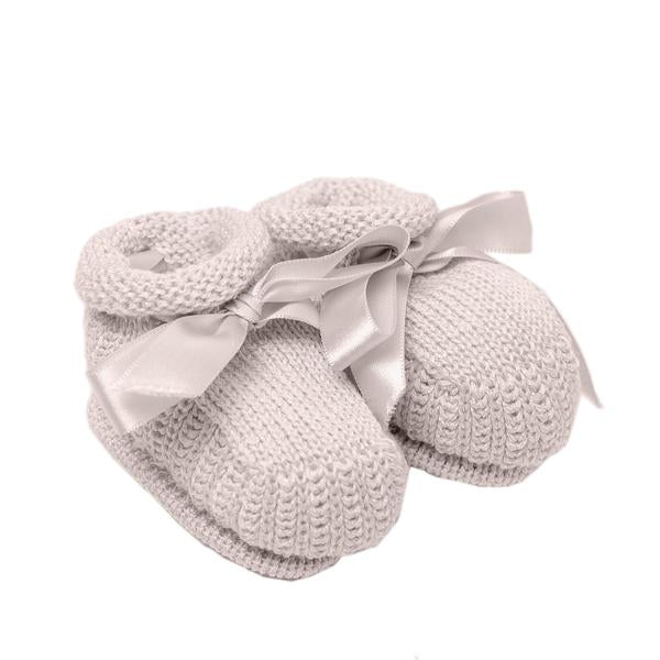 Knitted Booties ~ Beige