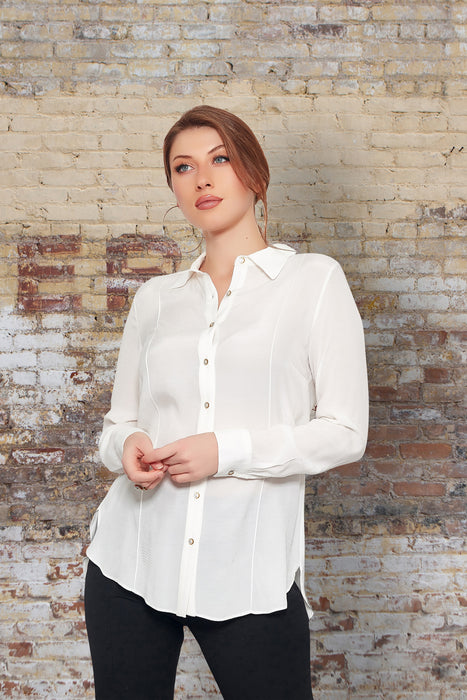Blouse creme dames
