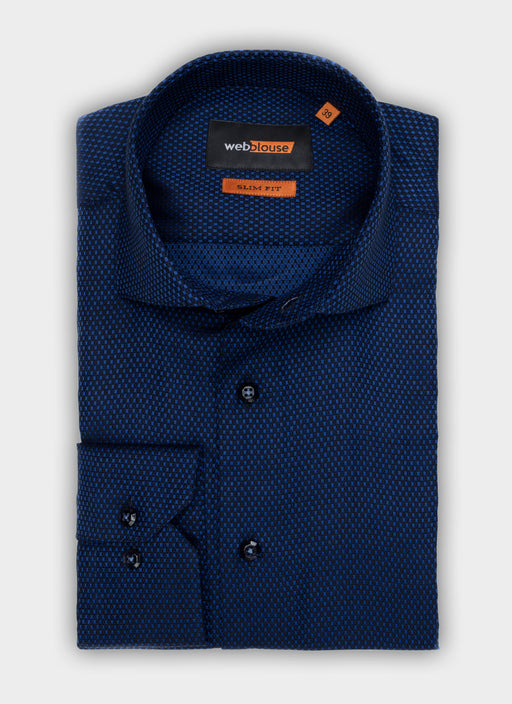 TIMELESS, SQUARES ON DARK BLUE, M1048