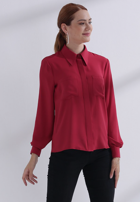 blouse dames mira rood