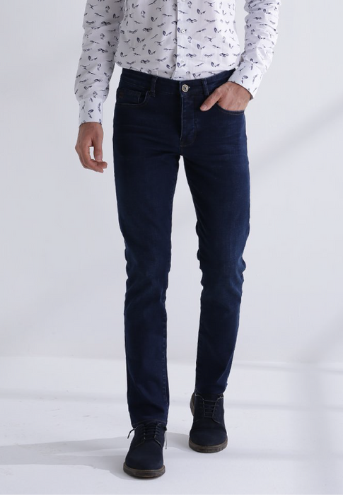 heren jeans george slim fit blauw