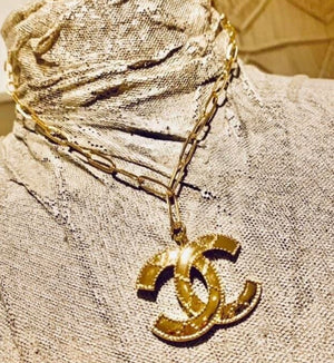 Gold Logo Necklace