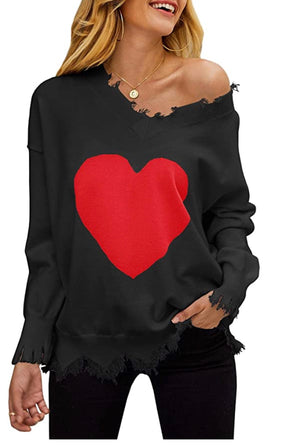Copy of Heart lightweight sweater