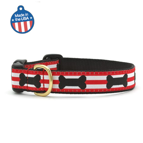 """Got Bones"" dog collar - Giddy Dogs"