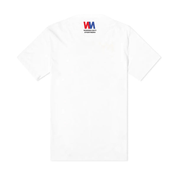 Double N - Large Print Logo Centre Chest - off White - Organic Tee Shirt