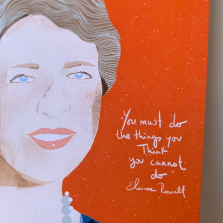 Eleanor Roosevelt Blank Greeting Card