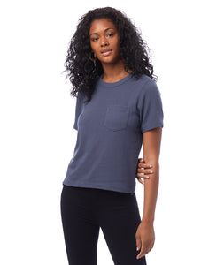 Heavyweight Recycled Cotton Cropped Pocket T-Shirt
