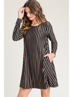 Load image into Gallery viewer, Marta Long Sleeve Striped Dress