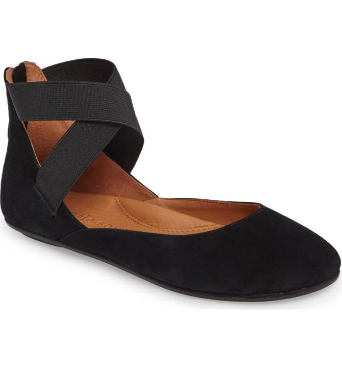 Bay Unique Ballet Flat - Black Suede