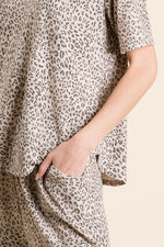 Load image into Gallery viewer, Leopard Print Pajama Short Set