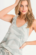Load image into Gallery viewer, Camo Print Tank Top