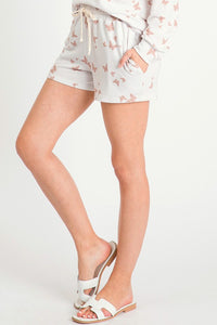 Butterfly Print Lounge Shorts