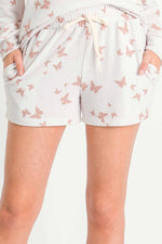 Load image into Gallery viewer, Butterfly Print Lounge Shorts
