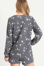 Load image into Gallery viewer, Butterfly Print Lounge Top