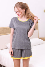 Load image into Gallery viewer, Lily Short Sleeve Lounge Top