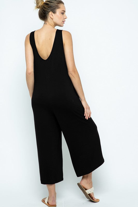 V-Neck Relaxed Fit Jumpsuit