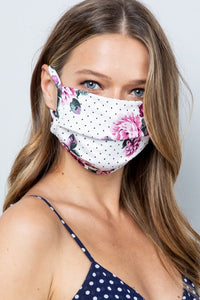 Face Masks Blue Floral/Purple Floral/Orange Floral