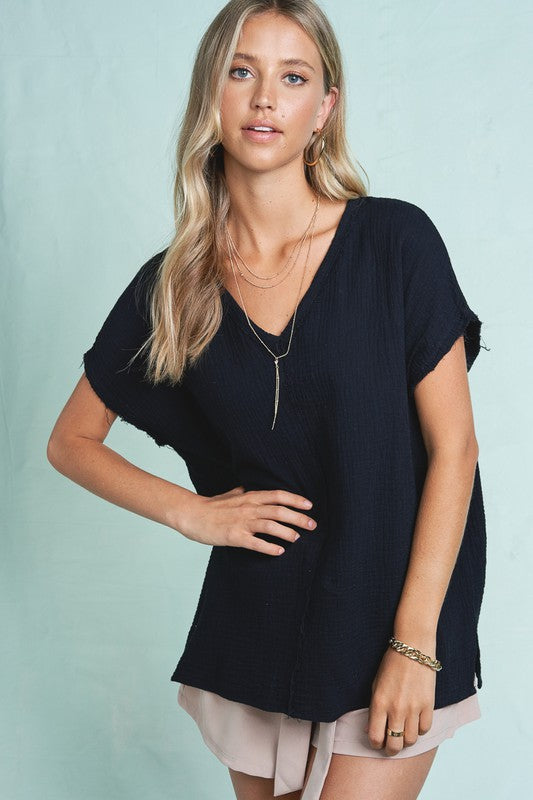 Summer V-Neck Top