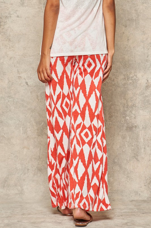 Coral Printed Lounge Pants