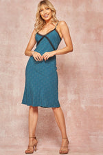 Load image into Gallery viewer, Teal Slip Dress
