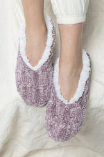 Load image into Gallery viewer, Chenille Cable Knit Slipper/Sock