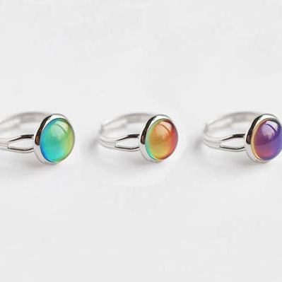 Changing Color Mood Stone Ring