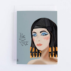 Liz Taylor Blank Greeting Card