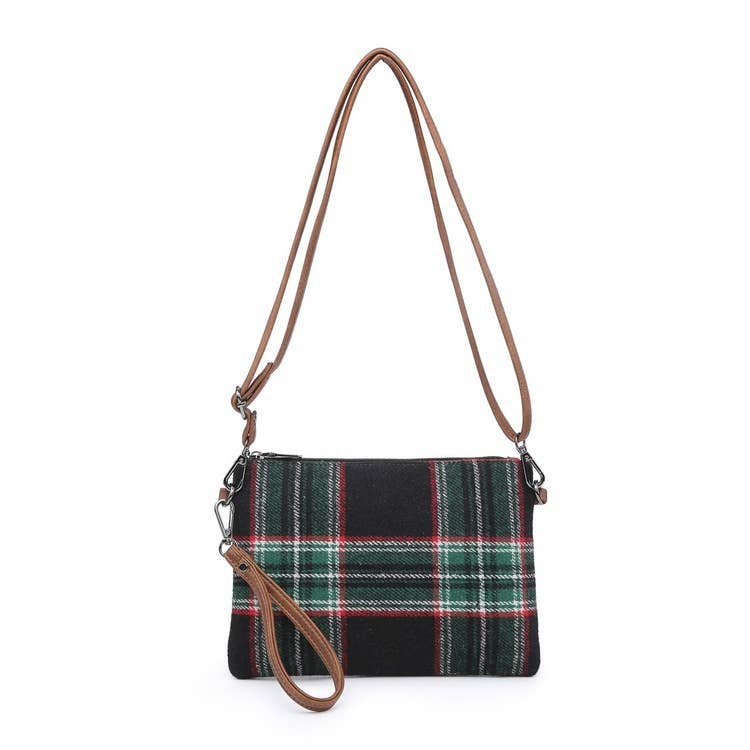 Meriam Plaid Clutch/Crossbody and Wristlet