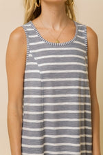 Load image into Gallery viewer, Striped Tank Dress