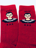 Load image into Gallery viewer, Ruth Bader Ginsberg Ankle Socks