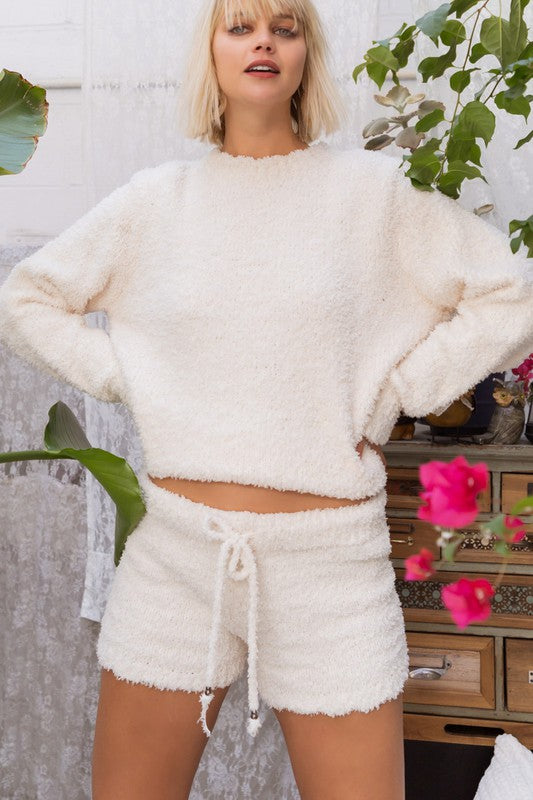 Babe Berber Cozy Fleece Shorts
