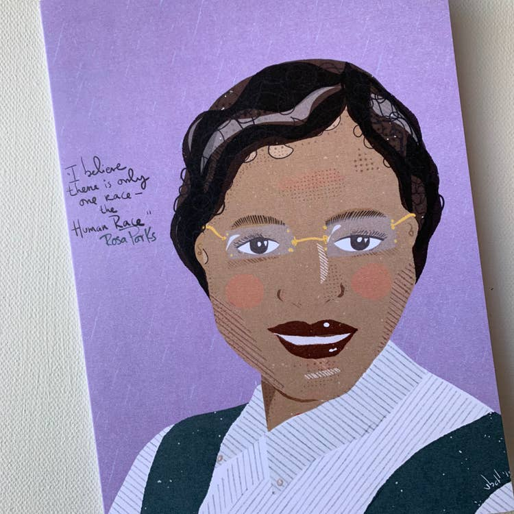 Rosa Parks Blank Greeting Card