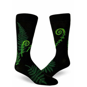 Ferns & Fiddleheads Men's Crew Socks