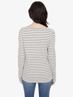 Load image into Gallery viewer, Alma Snap Front Striped Tee
