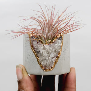Smoky Quartz Geode Vessel Light