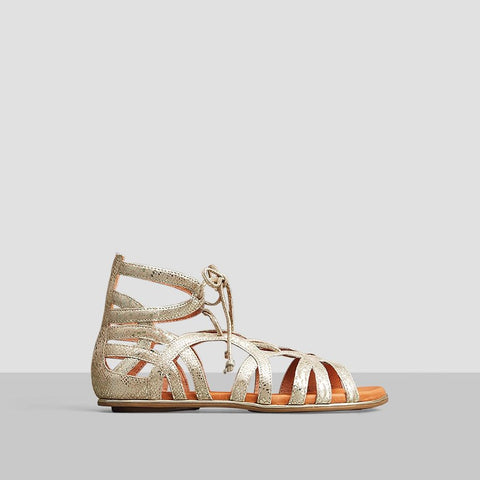 Break My Heart Gladiator Sandal - Gold