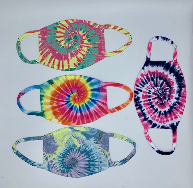 Face Masks Bright Colors Tie Dye