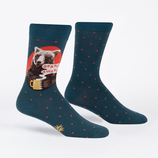 Bearly Awake Men's Crew Socks