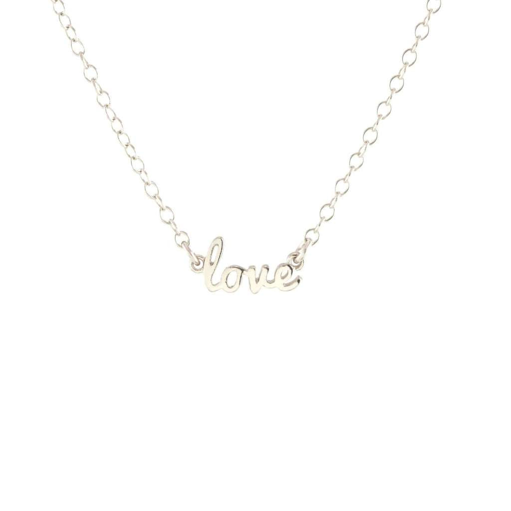 Cursive Love Charm Necklace