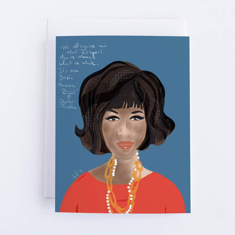 Aretha Franklin Blank Greeting Card