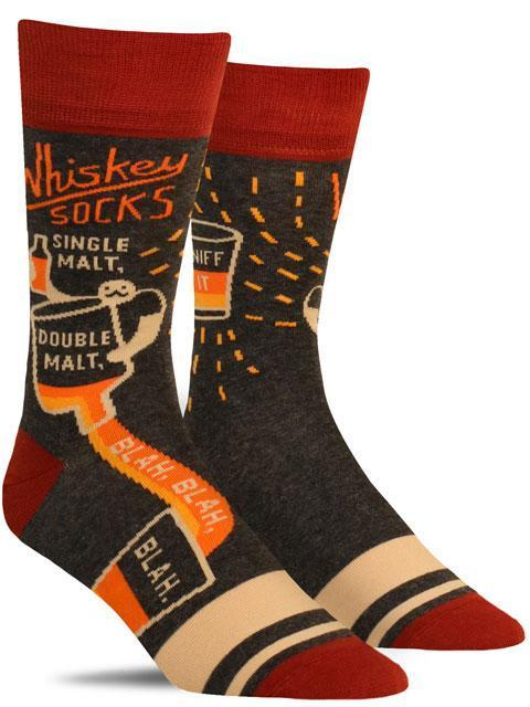 Whiskey Socks Mens Crew Socks