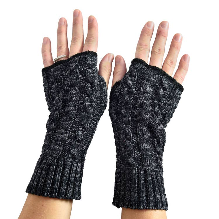 Women's Recycled Cotton Fingerless Gloves