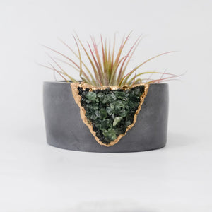 Green Apatite Mini Planter Dark