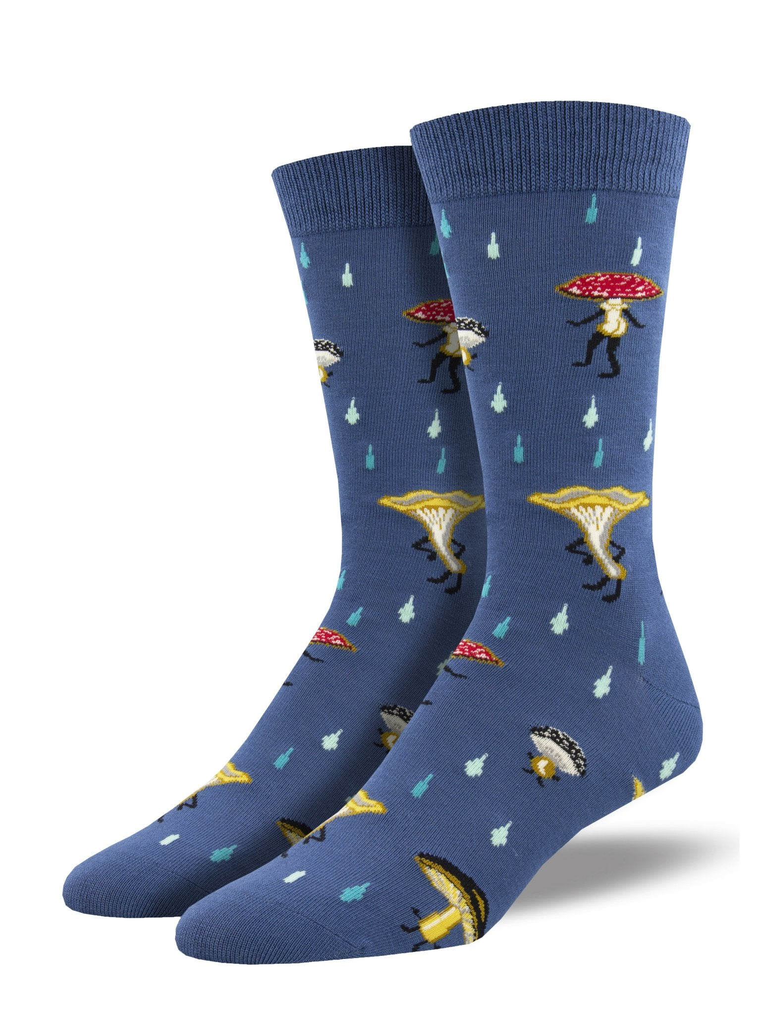 Fungi Fun Guys Men's Bamboo Crew Socks