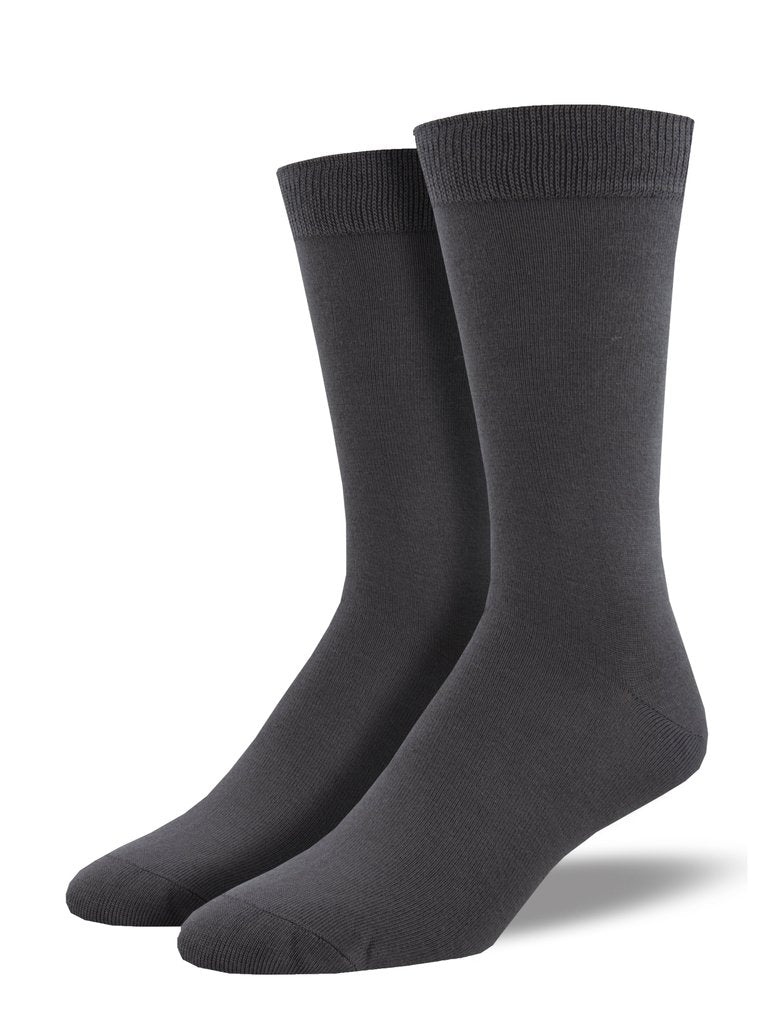Bamboo Solid Color Men's Socks