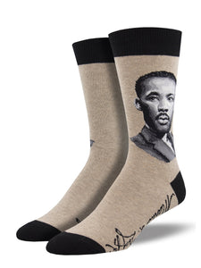MLK Jr. Portrait Men's Crew Socks