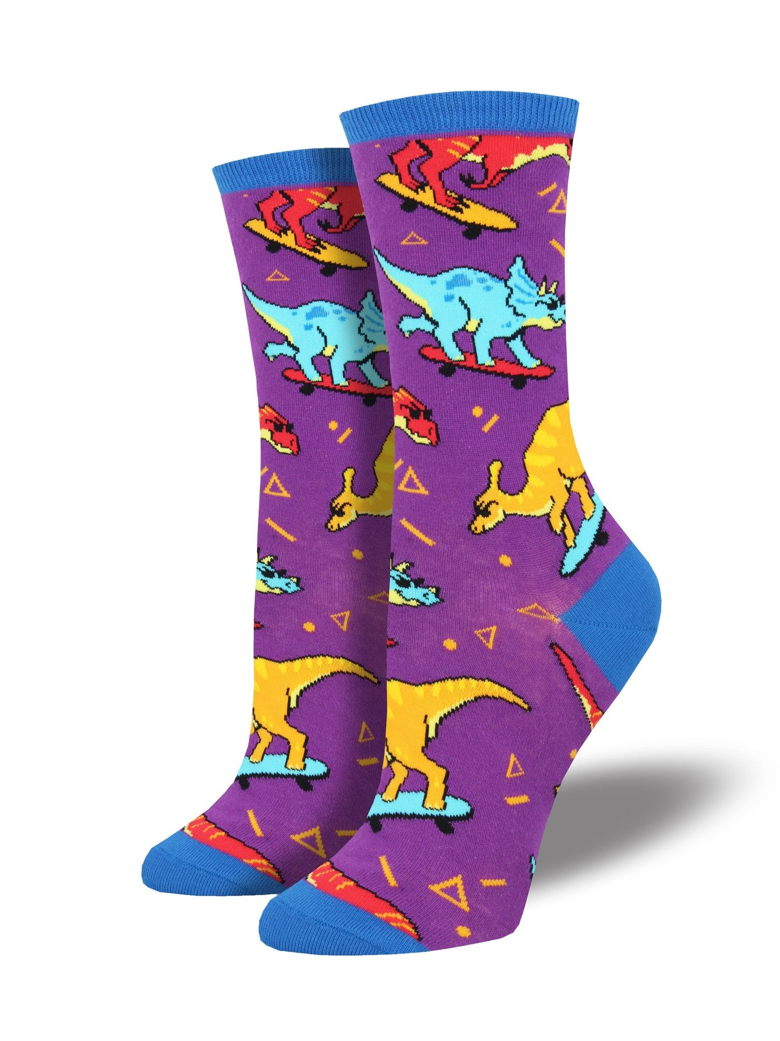 Skating Dinosaur Socks