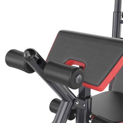 Bench Press Heavy Duty with Preacher Curl, Legs
