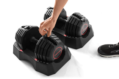 Weider Select-a-Weight 50 lb. Adjustable Dumbbell Set PAIR