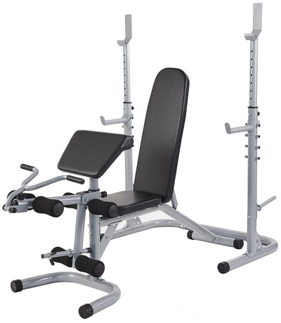 Bench Press Home Set with Leg/Curl/Squat Attachments